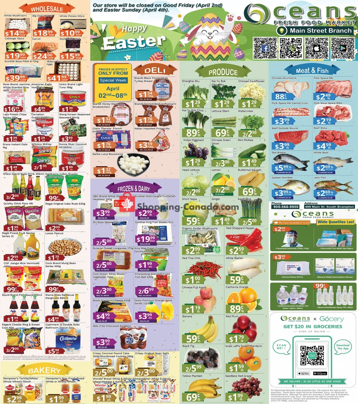 Flyer Oceans Fresh Food Market Canada - from Friday April 2, 2021 to Thursday April 8, 2021