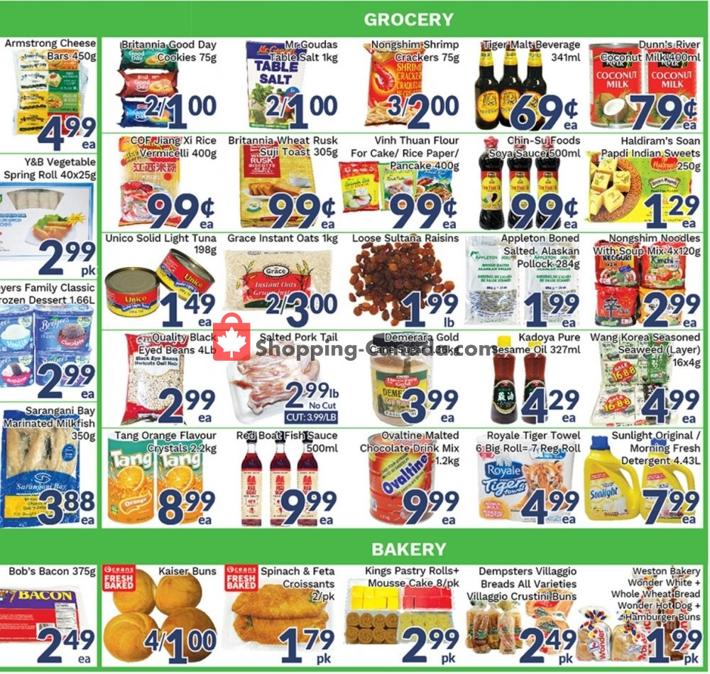 Flyer Oceans Fresh Food Market Canada - from Friday September 6, 2019 to Thursday September 12, 2019