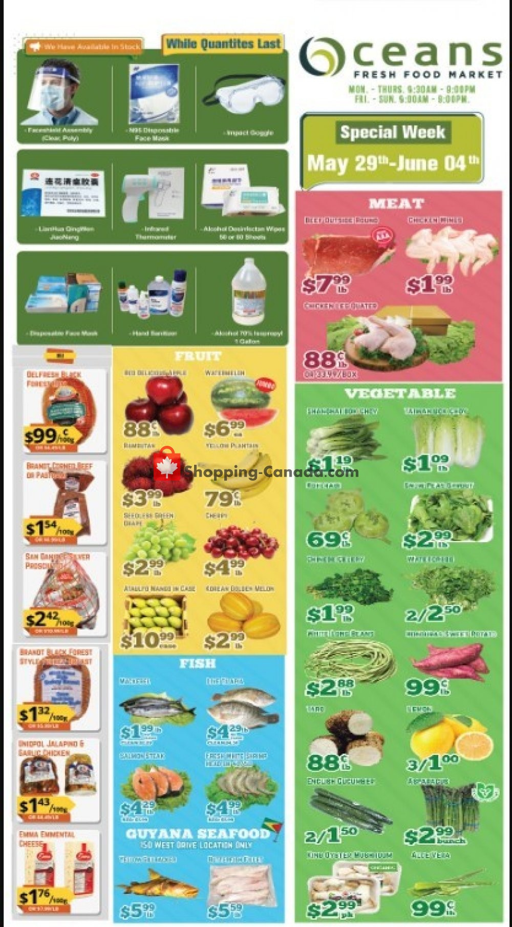Flyer Oceans Fresh Food Market Canada - from Friday May 29, 2020 to Thursday June 4, 2020