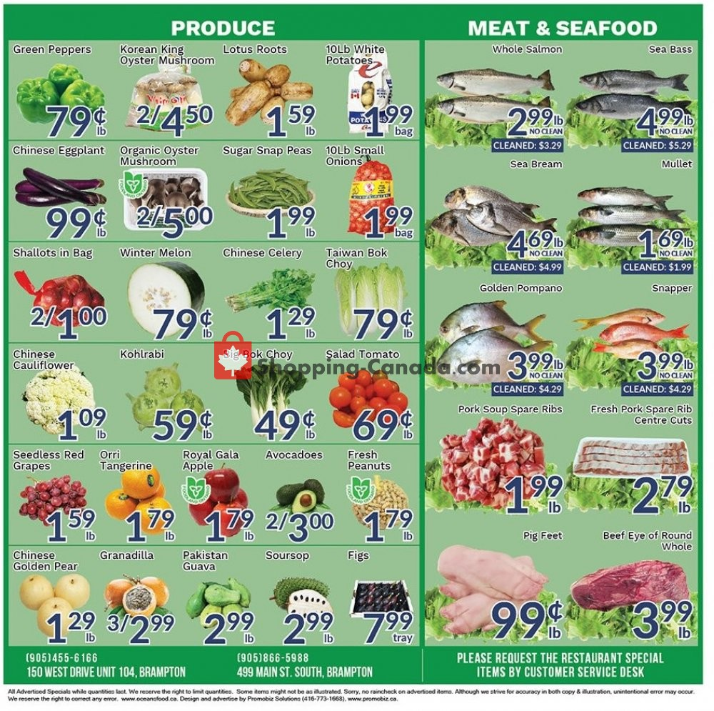 Flyer Oceans Fresh Food Market Canada - from Friday October 4, 2019 to Thursday October 10, 2019