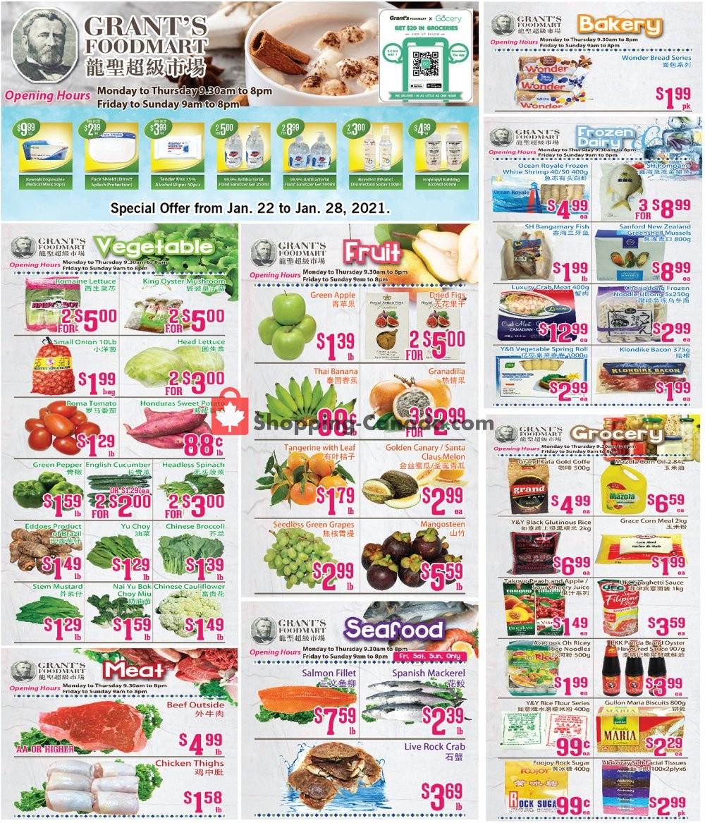 Flyer Oceans Fresh Food Market Canada - from Friday January 22, 2021 to Thursday January 28, 2021