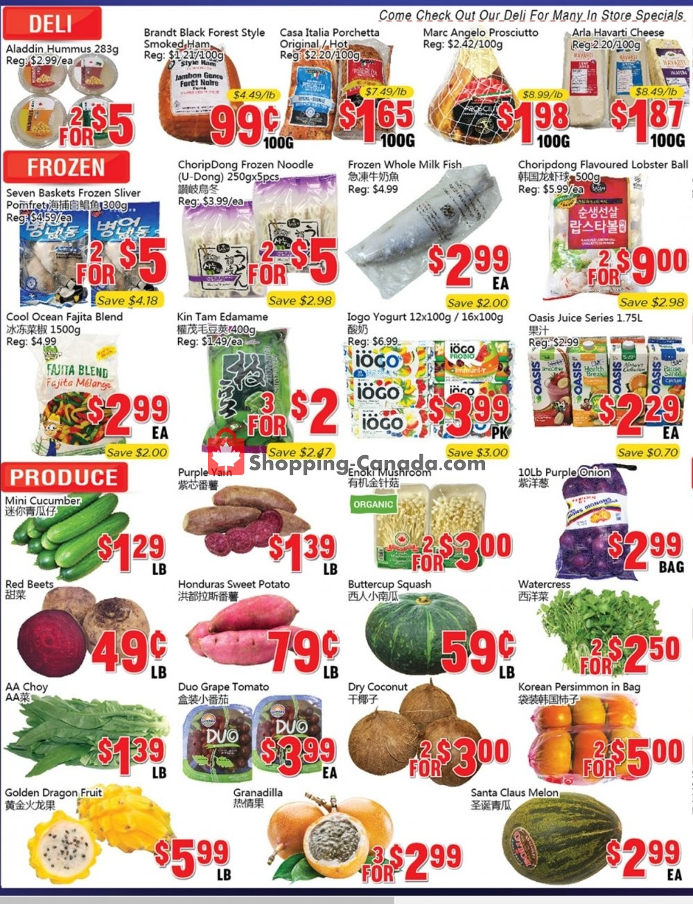 Flyer Oceans Fresh Food Market Canada - from Friday January 10, 2020 to Thursday January 16, 2020
