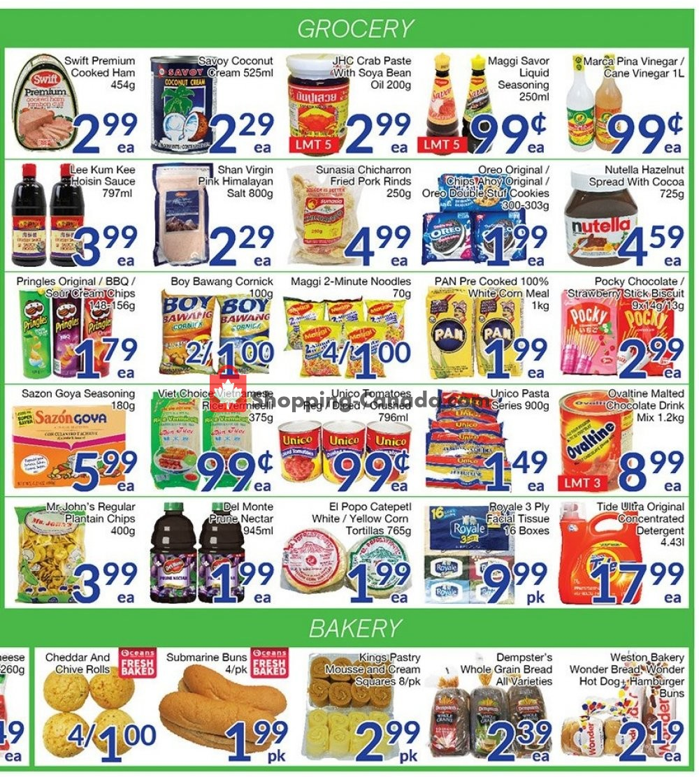 Flyer Oceans Fresh Food Market Canada - from Friday July 12, 2019 to Thursday July 18, 2019