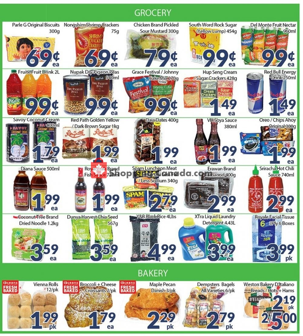 Flyer Oceans Fresh Food Market Canada - from Friday August 9, 2019 to Thursday August 15, 2019