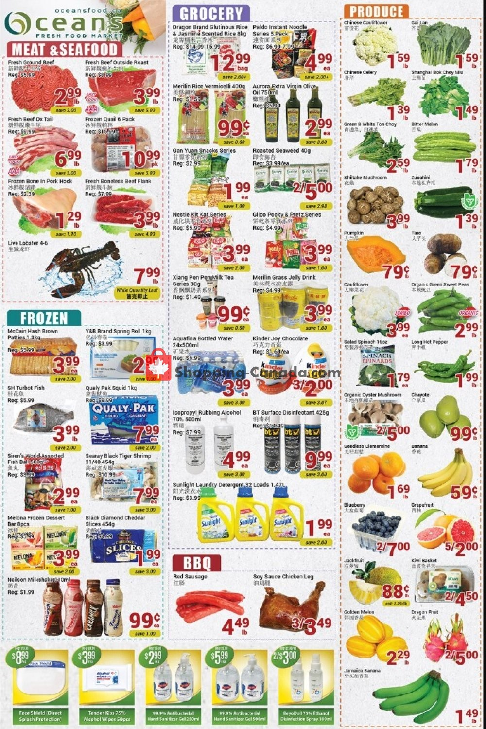 Flyer Oceans Fresh Food Market Canada - from Friday July 3, 2020 to Thursday July 9, 2020