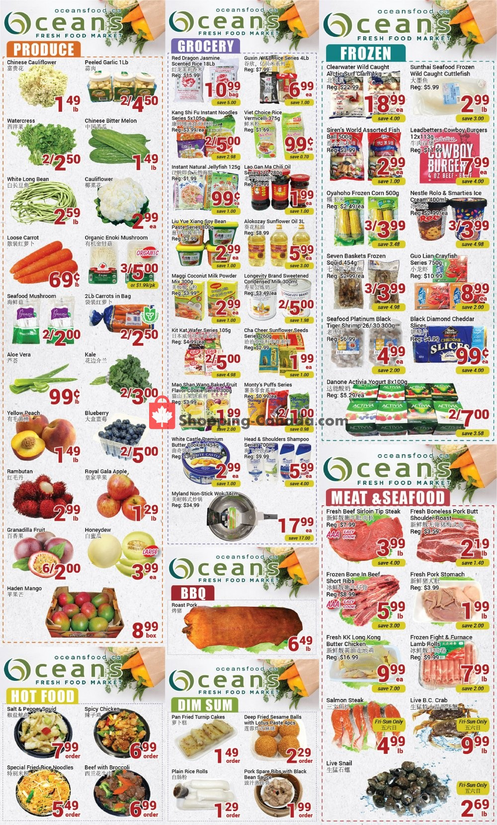 Flyer Oceans Fresh Food Market Canada - from Friday August 7, 2020 to Thursday August 13, 2020