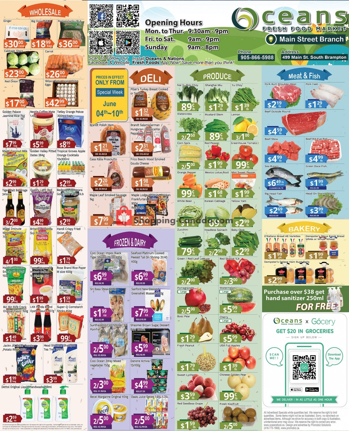 Flyer Oceans Fresh Food Market Canada - from Friday June 4, 2021 to Thursday June 10, 2021