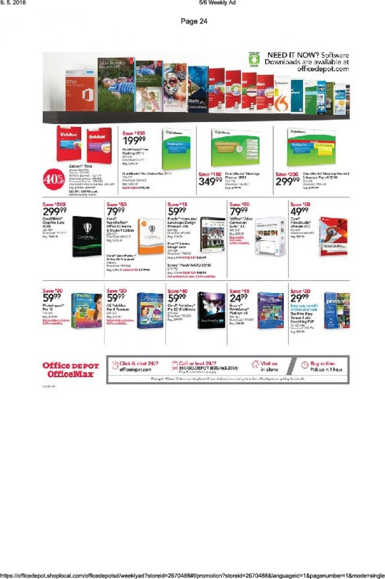 Flyer Office Depot Canada - from Sunday May 6, 2018 to Saturday May 19, 2018
