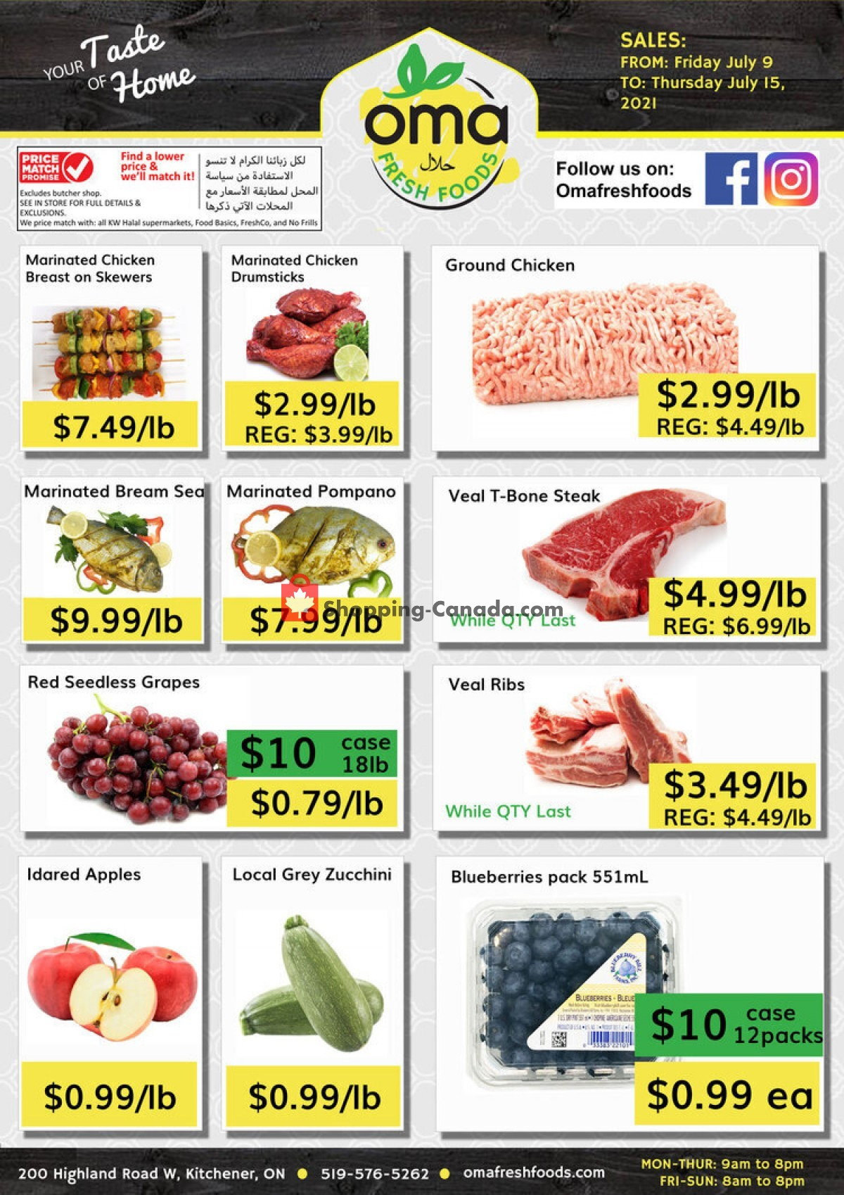 Flyer Oma fresh foods Canada - from Friday July 9, 2021 to Thursday July 15, 2021