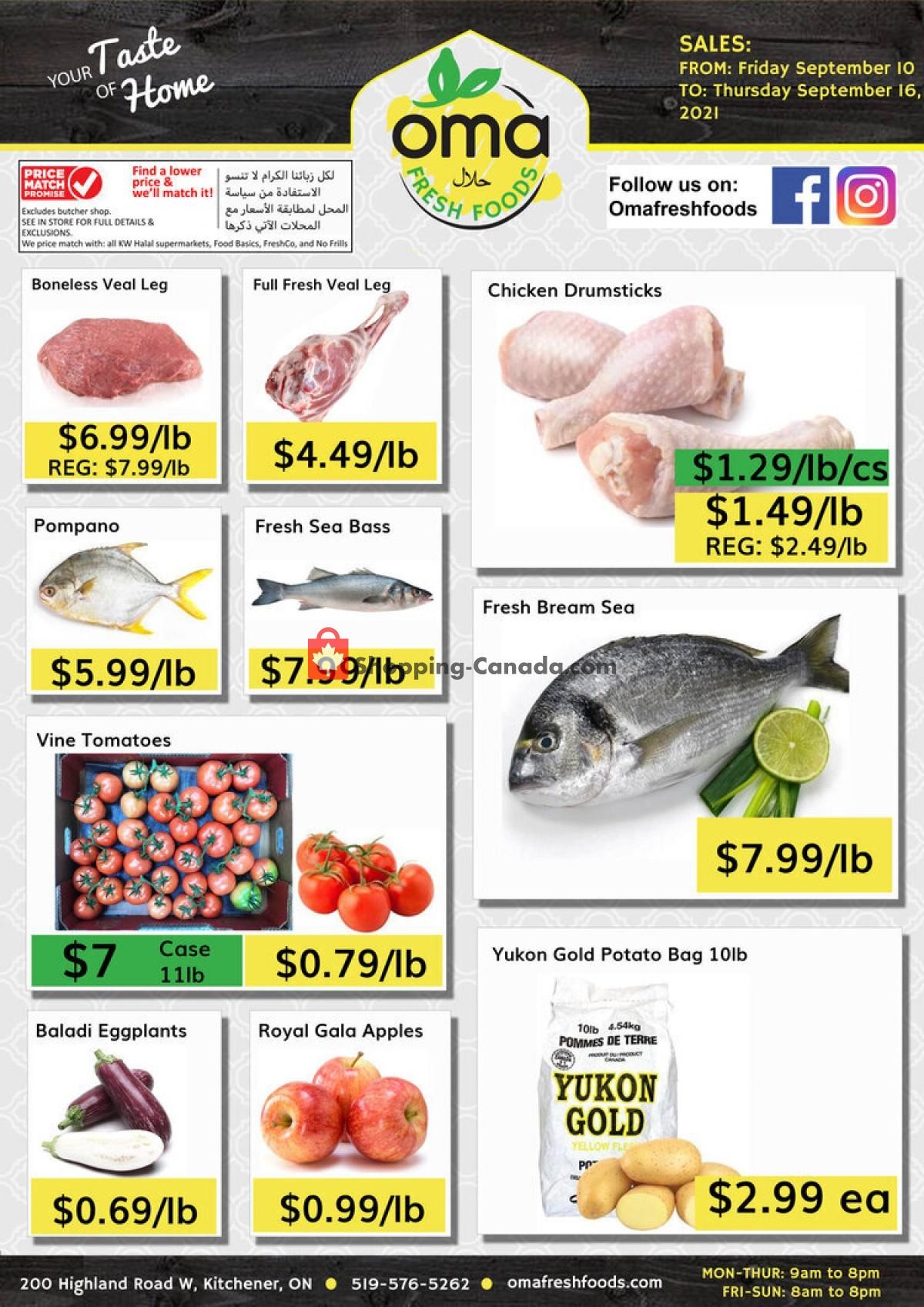 Flyer Oma fresh foods Canada - from Friday September 10, 2021 to Thursday September 16, 2021