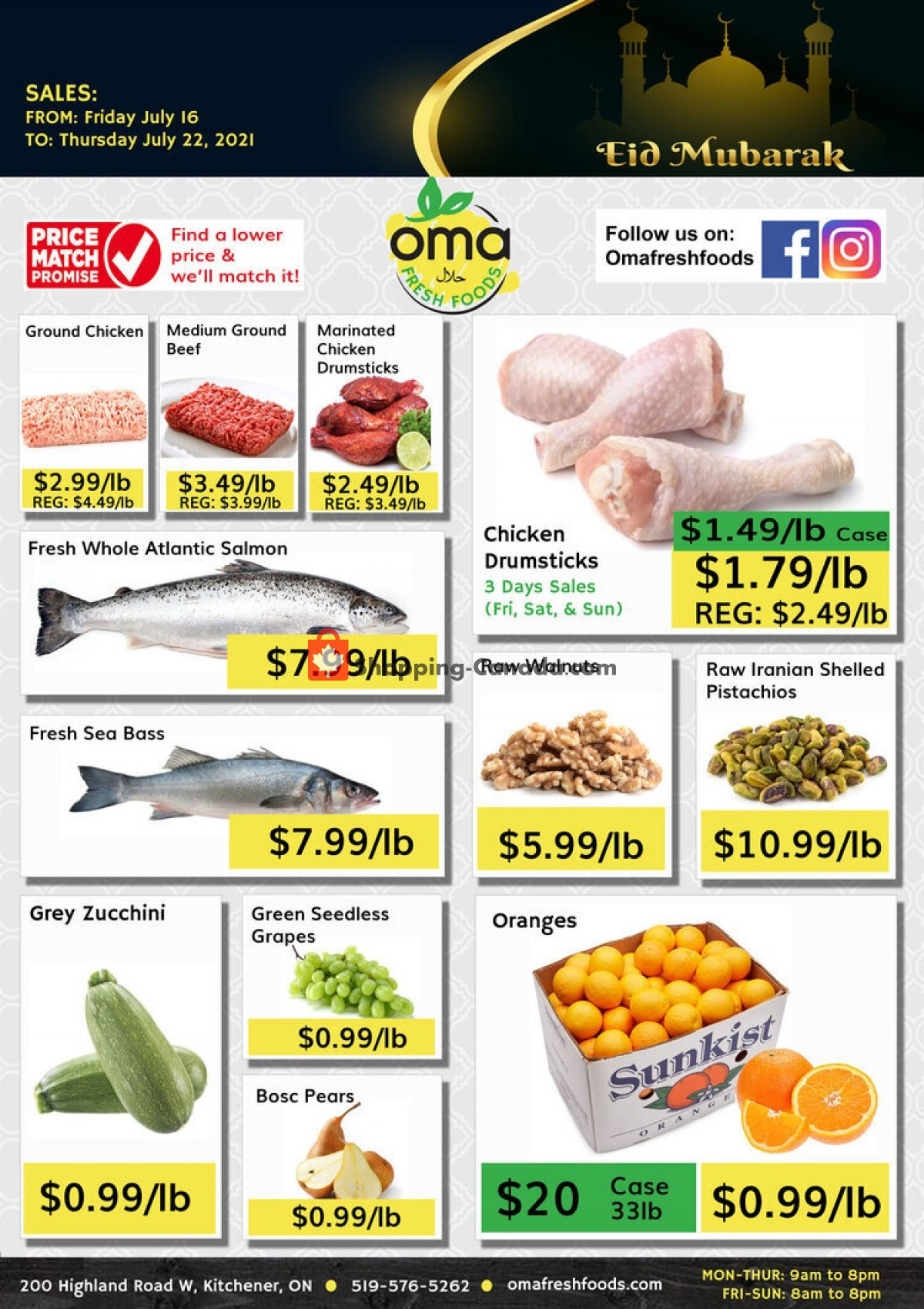 Flyer Oma fresh foods Canada - from Friday July 16, 2021 to Thursday July 22, 2021