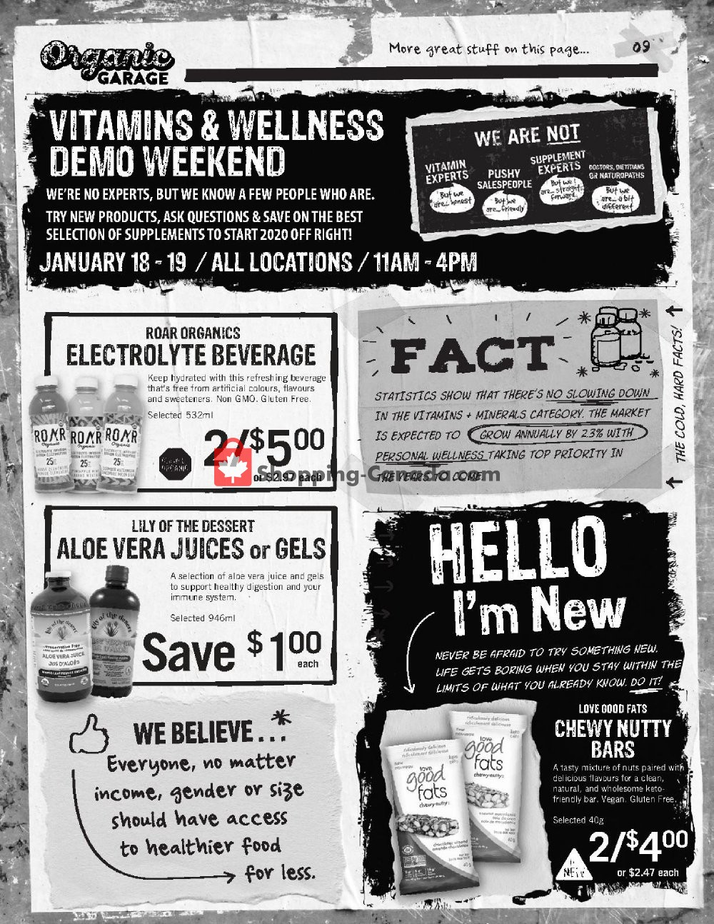 Flyer Organic Garage Canada - from Wednesday January 15, 2020 to Wednesday January 29, 2020