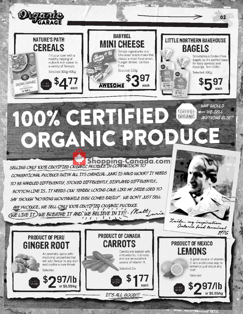 Flyer Organic Garage Canada - from Wednesday November 6, 2019 to Wednesday November 20, 2019