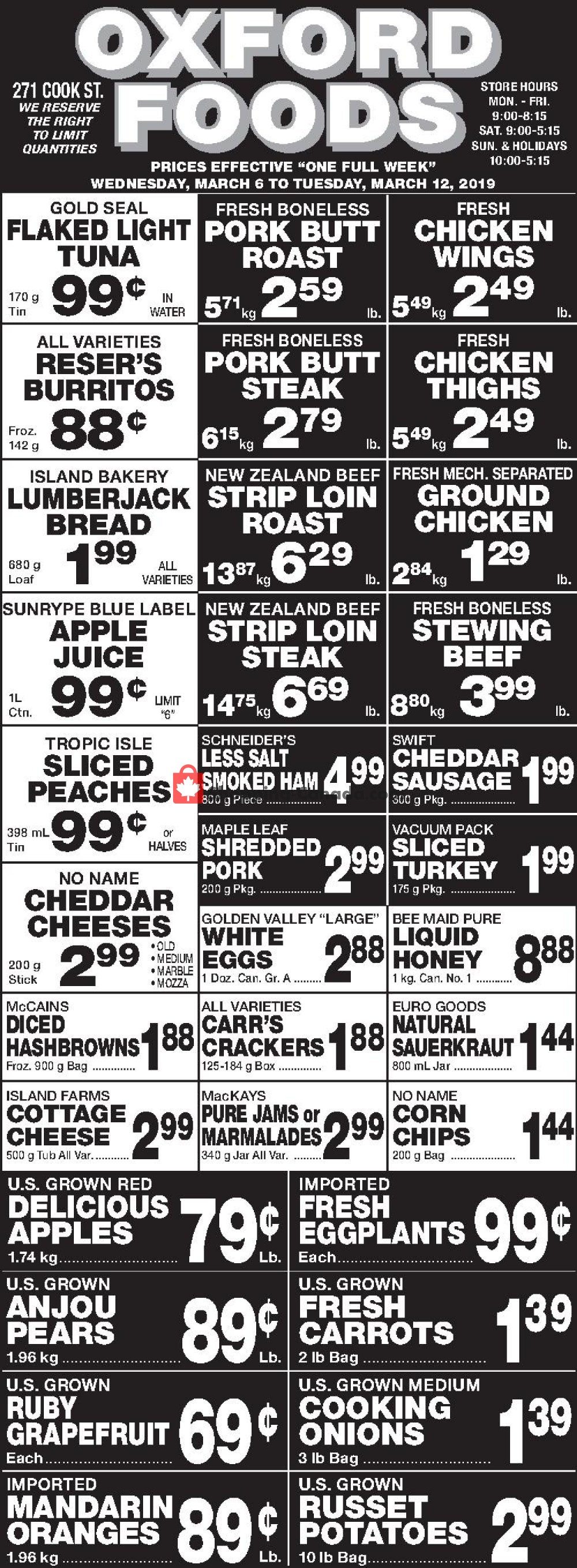 Flyer Oxford Foods Canada - from Wednesday March 6, 2019 to Tuesday March 12, 2019