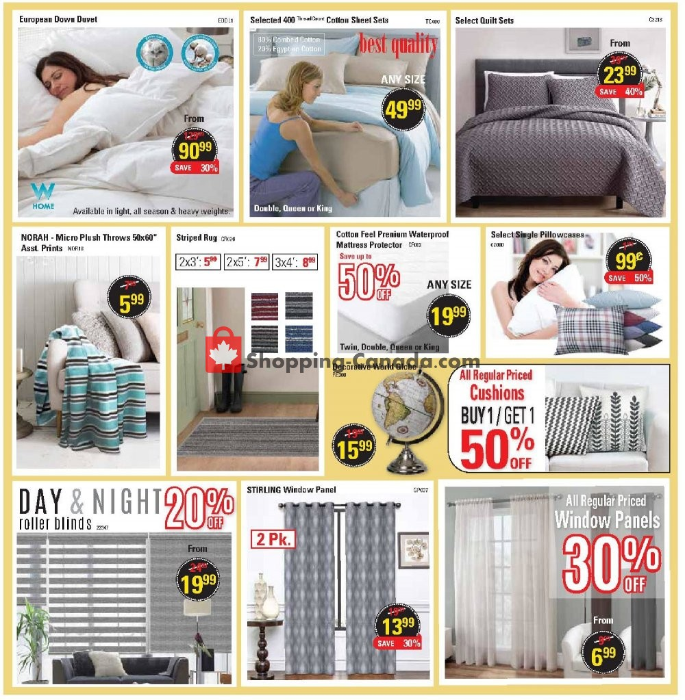 Flyer Oxford Mills Bedding & Towels Canada - from Wednesday July 24, 2019 to Tuesday August 20, 2019
