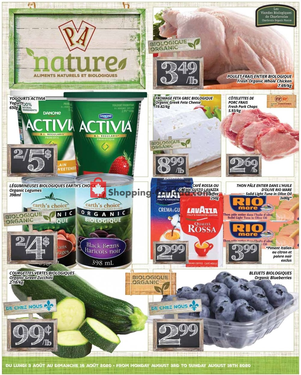 Flyer PA Nature Canada - from Monday August 3, 2020 to Sunday August 16, 2020