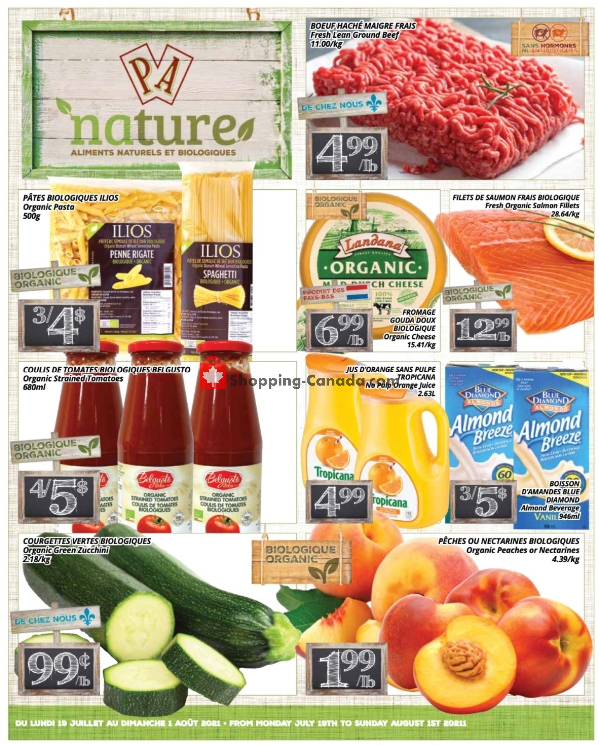 Flyer PA Nature Canada - from Monday July 19, 2021 to Sunday August 1, 2021