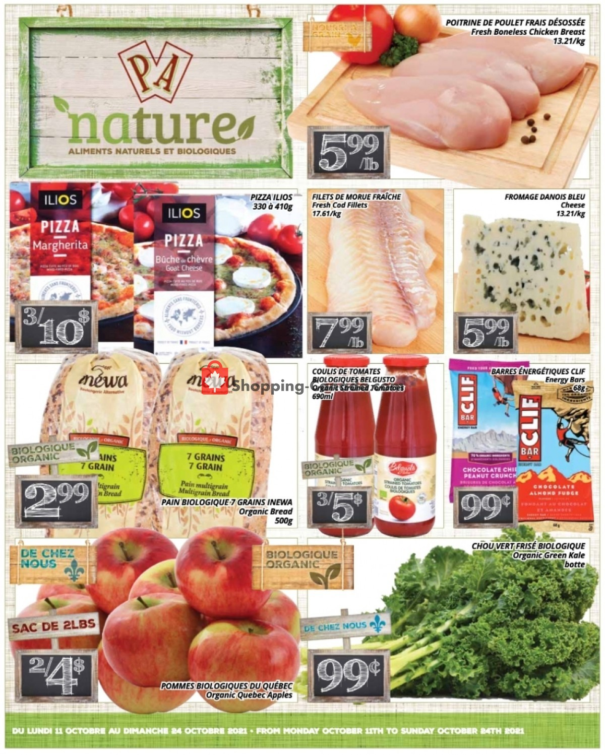 Flyer PA Nature Canada - from Monday October 11, 2021 to Sunday October 24, 2021