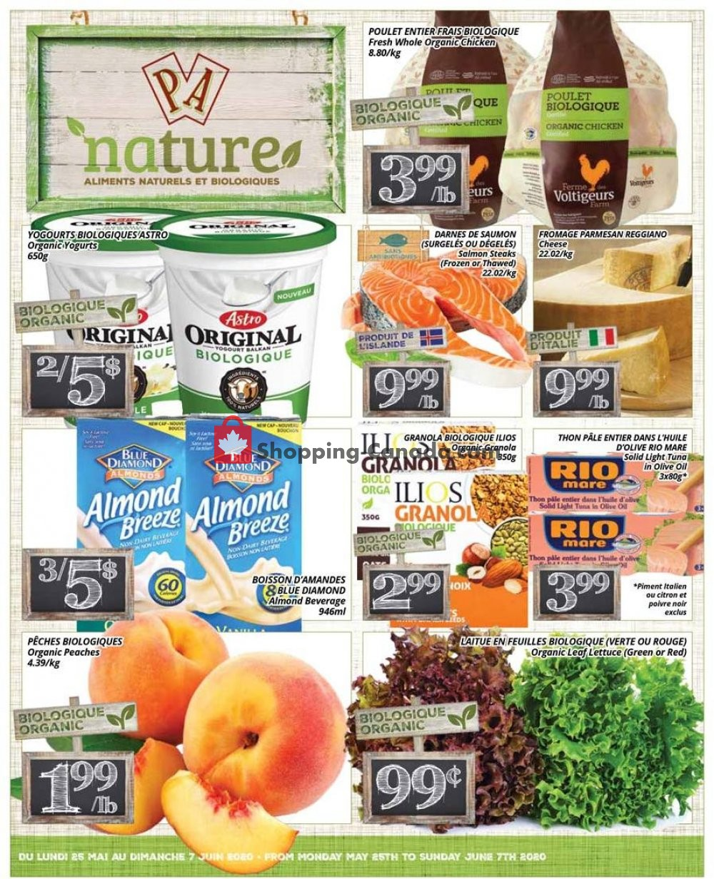 Flyer PA Nature Canada - from Monday May 25, 2020 to Sunday June 7, 2020