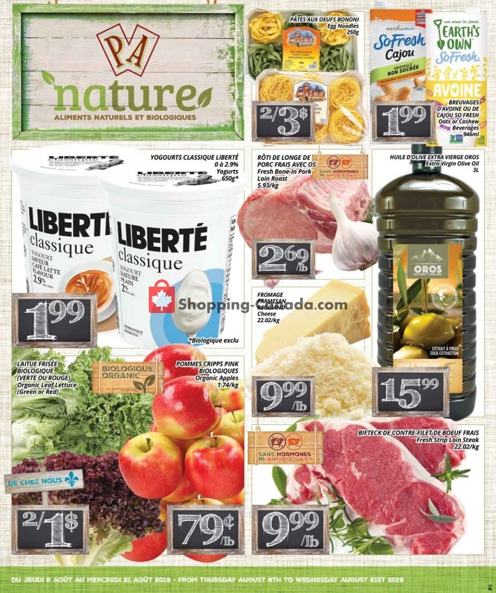 Flyer PA Nature Canada - from Thursday August 8, 2019 to Wednesday August 21, 2019