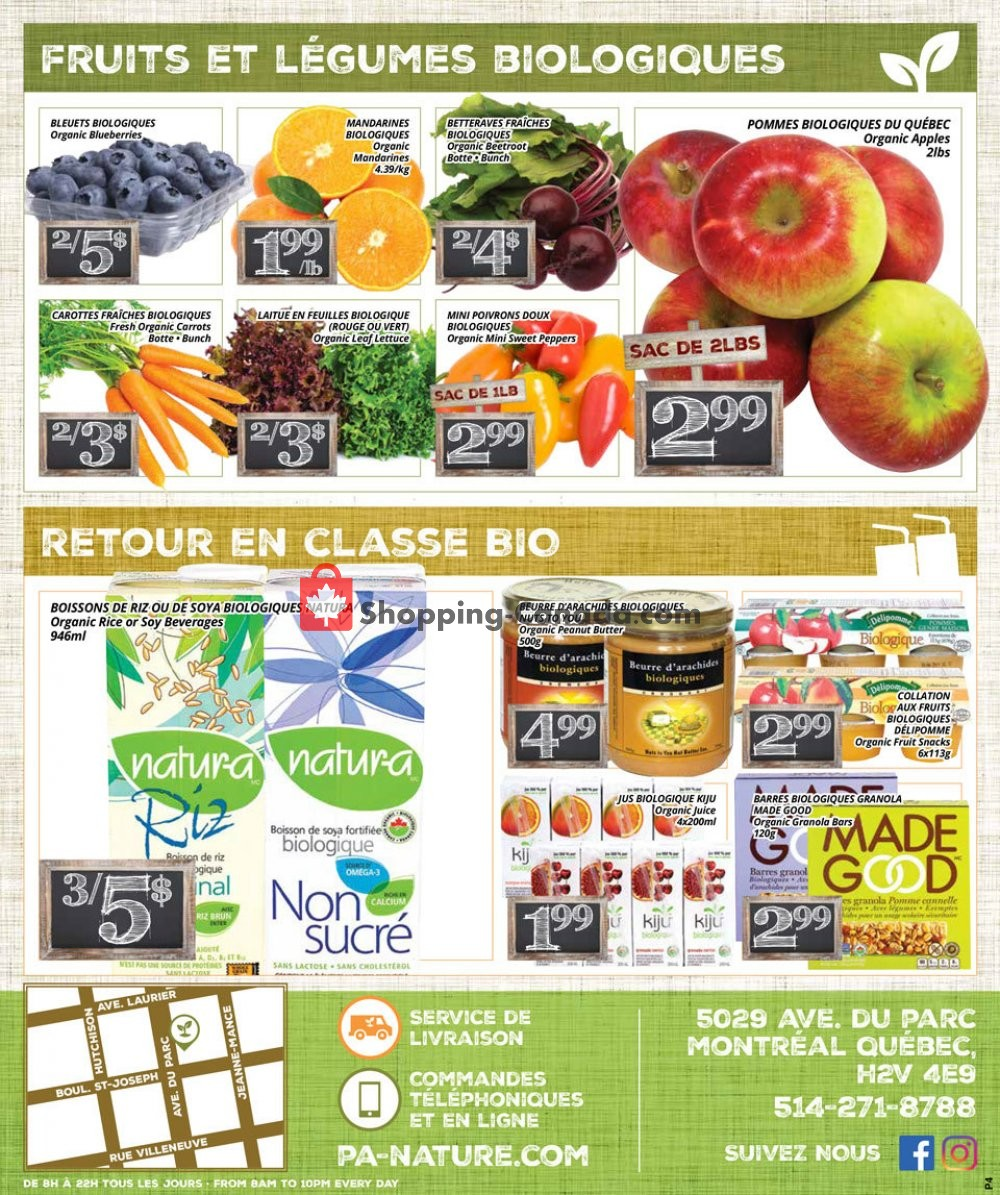 Flyer PA Nature Canada - from Thursday January 9, 2020 to Wednesday January 22, 2020