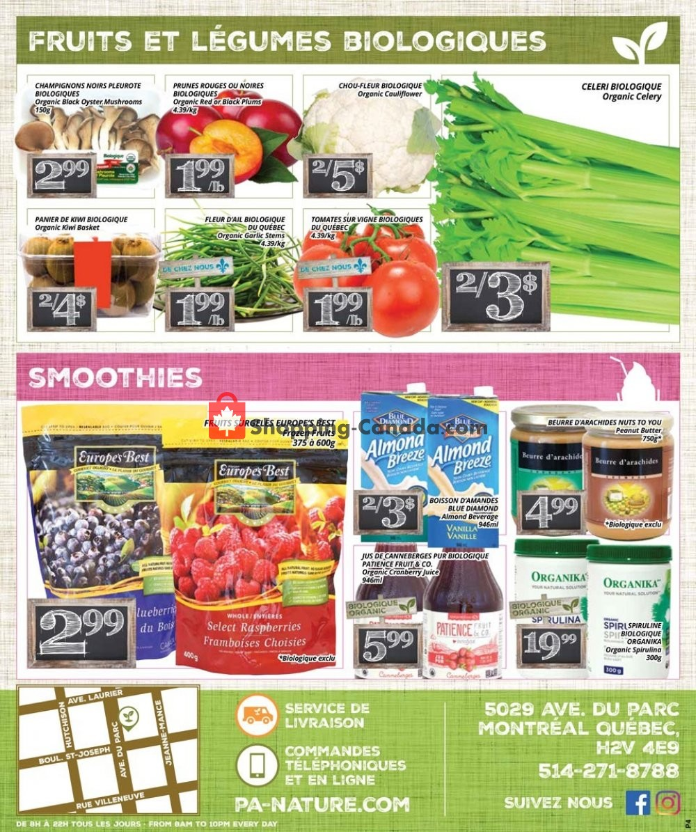 Flyer PA Nature Canada - from Thursday July 11, 2019 to Wednesday July 24, 2019