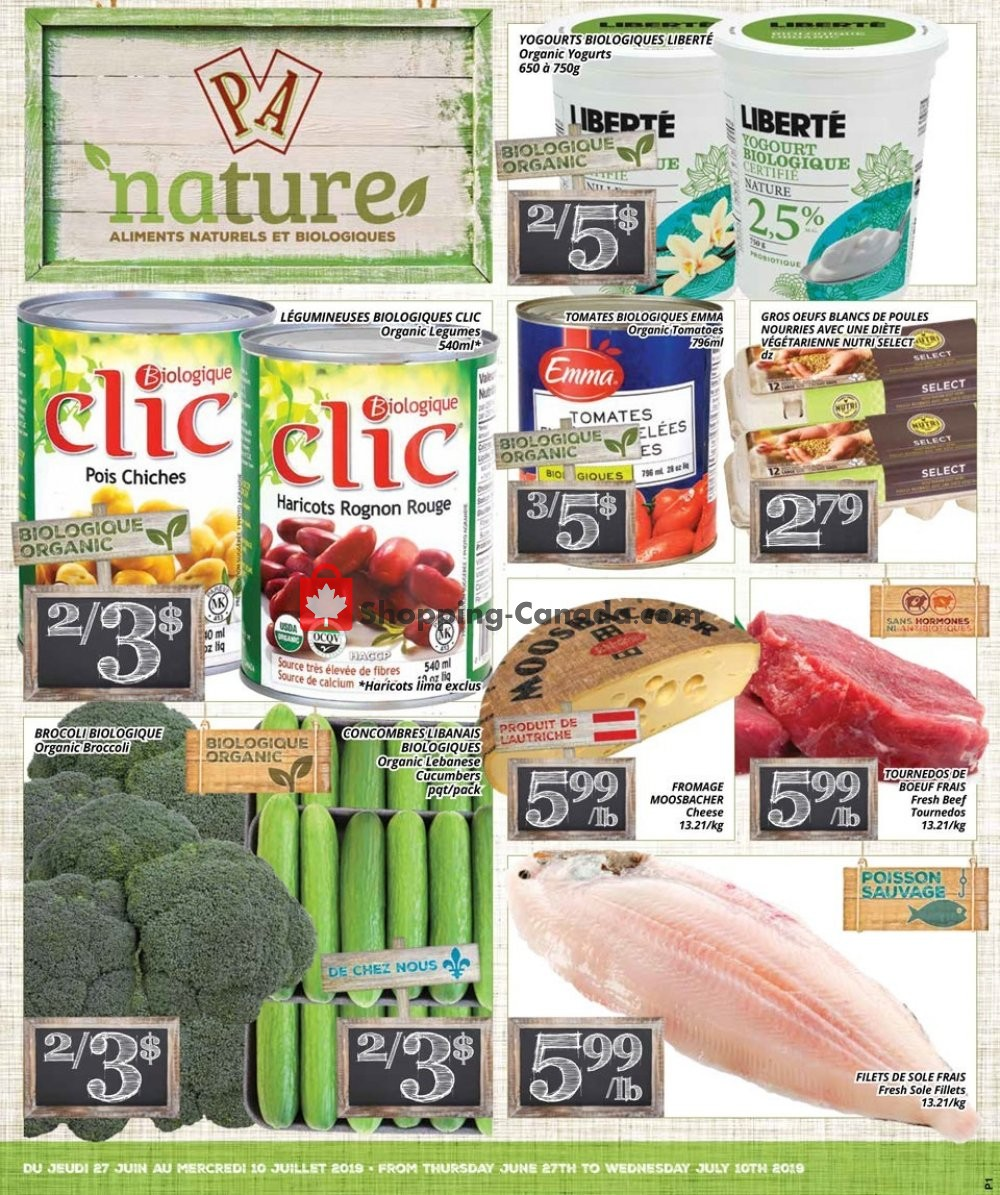 Flyer PA Nature Canada - from Thursday June 27, 2019 to Wednesday July 10, 2019