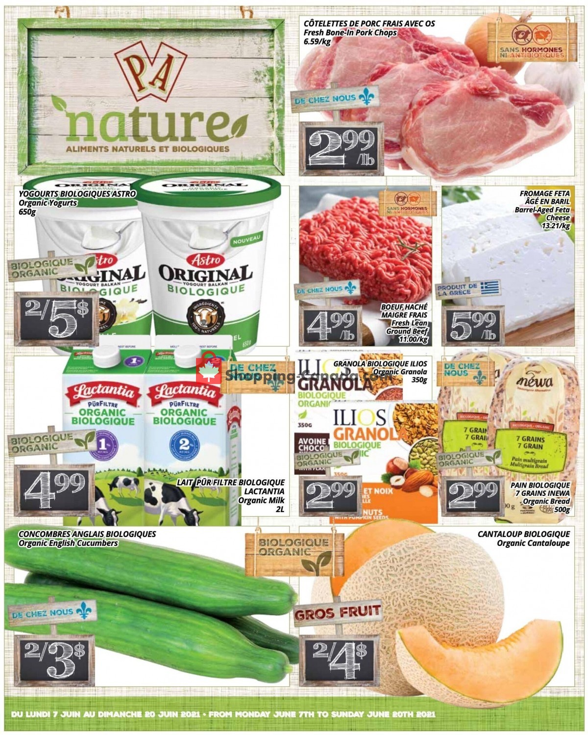 Flyer PA Nature Canada - from Monday June 7, 2021 to Sunday June 20, 2021