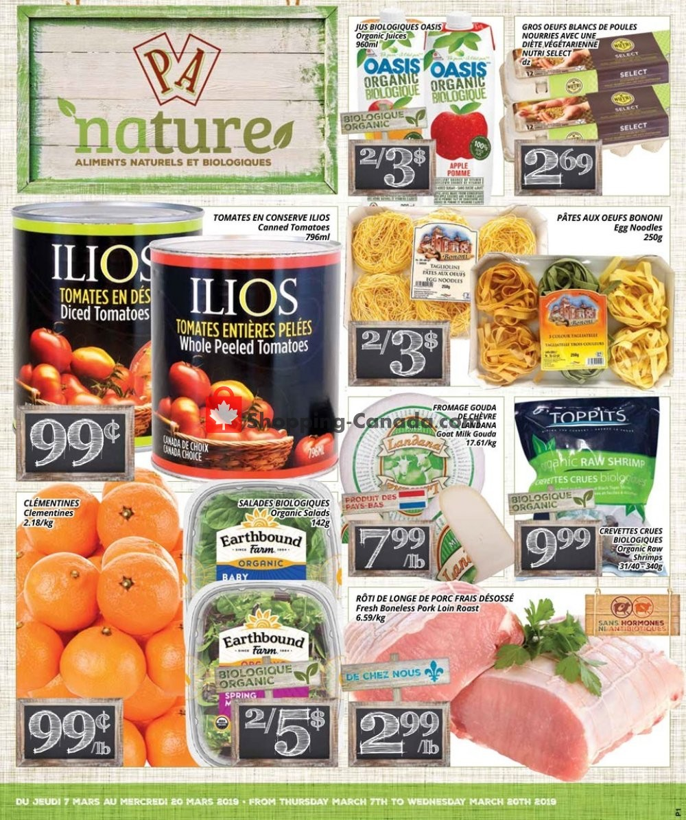 Flyer PA Nature Canada - from Thursday March 7, 2019 to Wednesday March 20, 2019