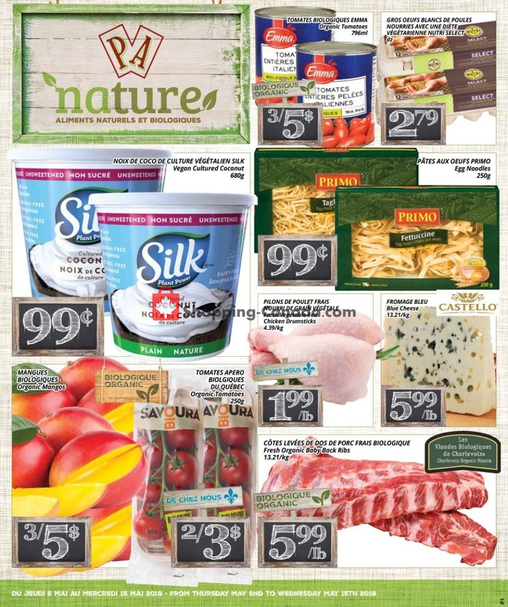 Flyer PA Nature Canada - from Thursday May 2, 2019 to Wednesday May 15, 2019