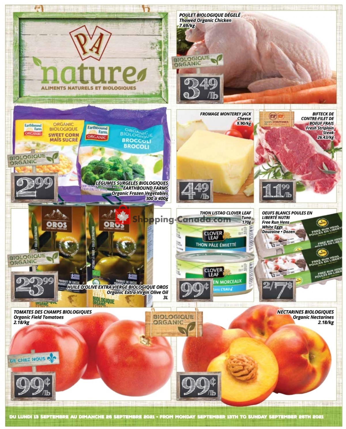 Flyer PA Nature Canada - from Monday September 13, 2021 to Sunday September 26, 2021
