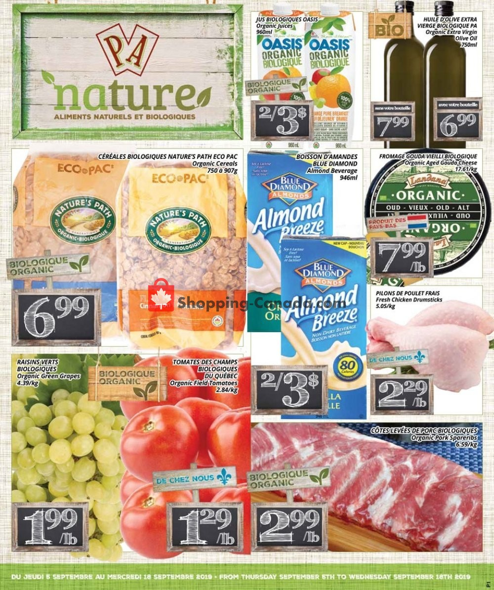 Flyer PA Nature Canada - from Thursday September 5, 2019 to Wednesday September 18, 2019