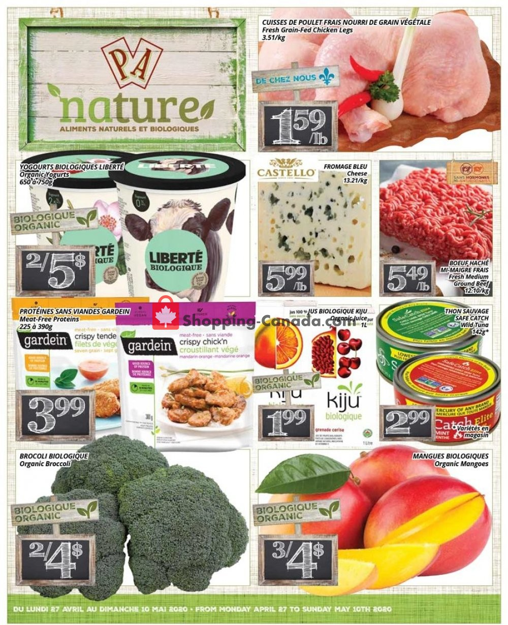 Flyer PA Nature Canada - from Monday April 27, 2020 to Sunday May 10, 2020