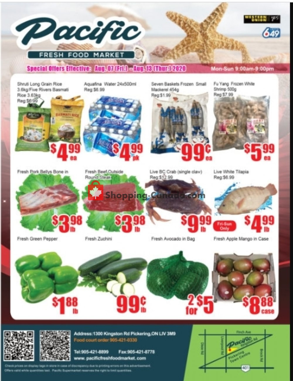 Flyer Pacific Fresh Food Market Canada - from Friday August 7, 2020 to Thursday August 13, 2020