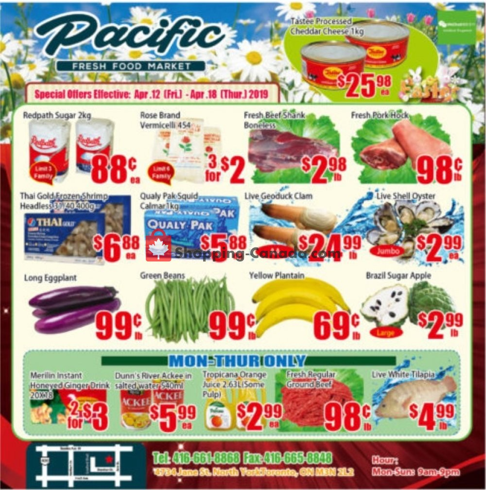 Flyer Pacific Fresh Food Market Canada - from Friday April 12, 2019 to Thursday April 18, 2019