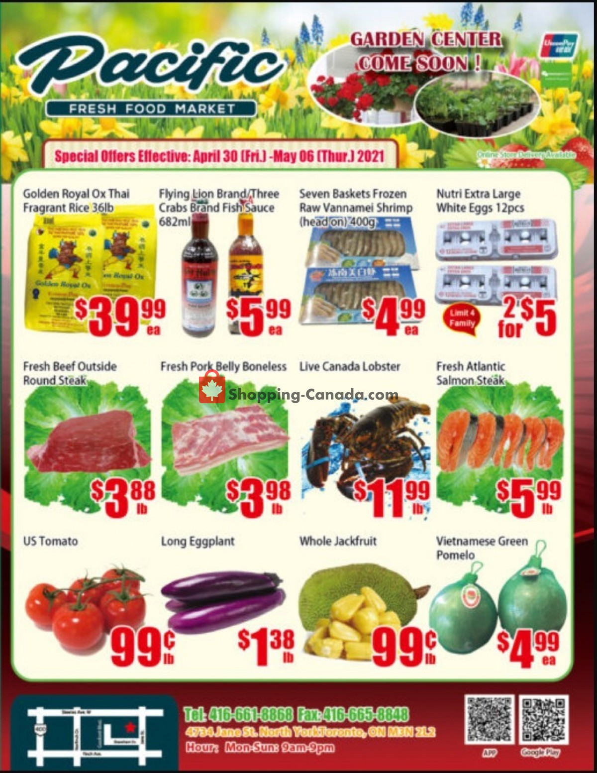 Flyer Pacific Fresh Food Market Canada - from Friday April 30, 2021 to Thursday May 6, 2021