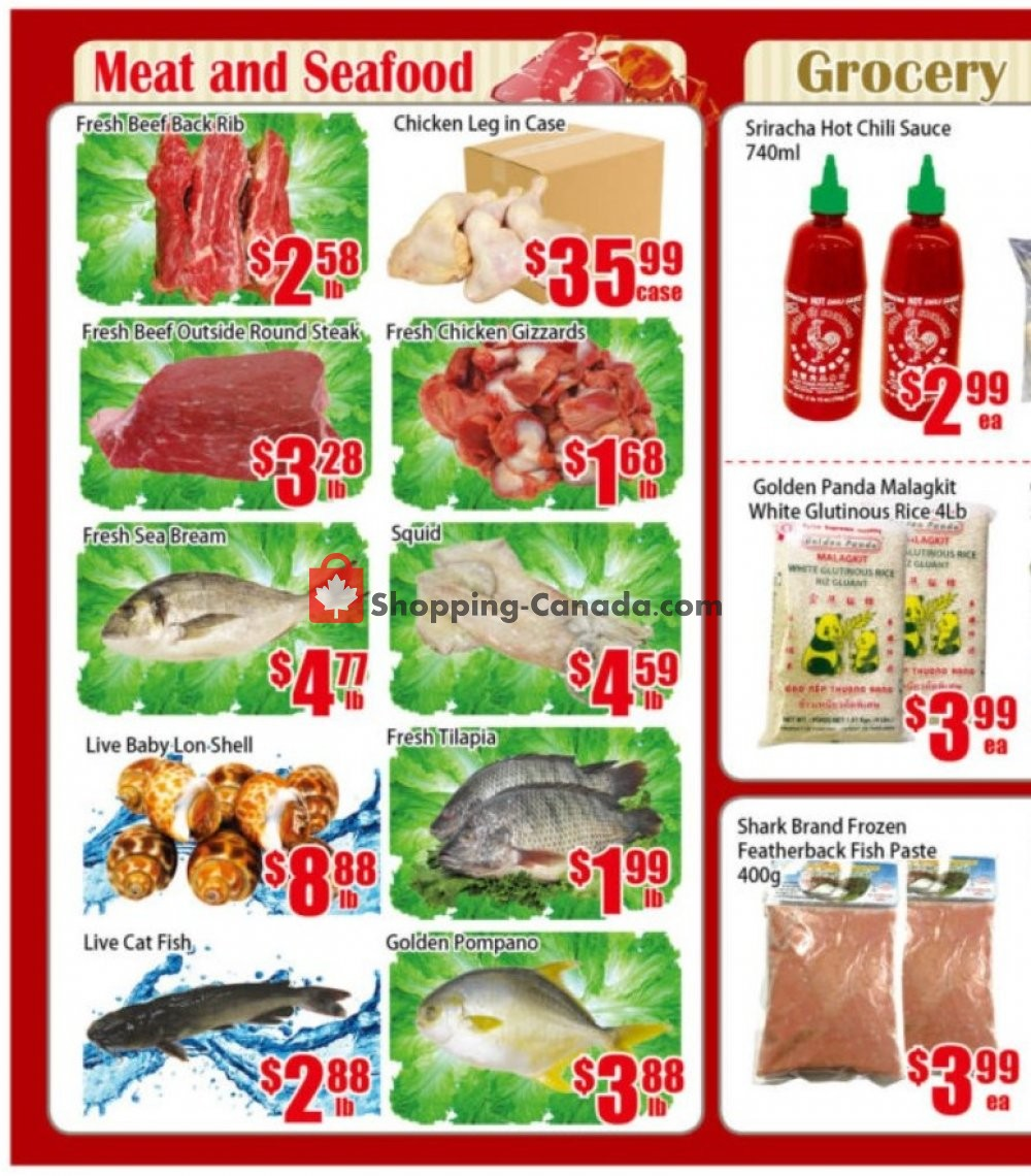 Flyer Pacific Fresh Food Market Canada - from Friday January 10, 2020 to Sunday January 12, 2020