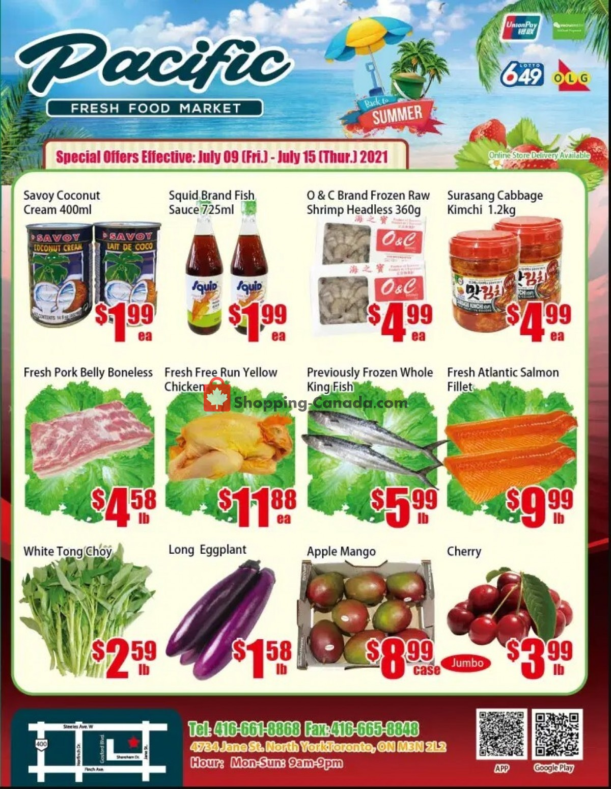 Flyer Pacific Fresh Food Market Canada - from Friday July 9, 2021 to Thursday July 15, 2021