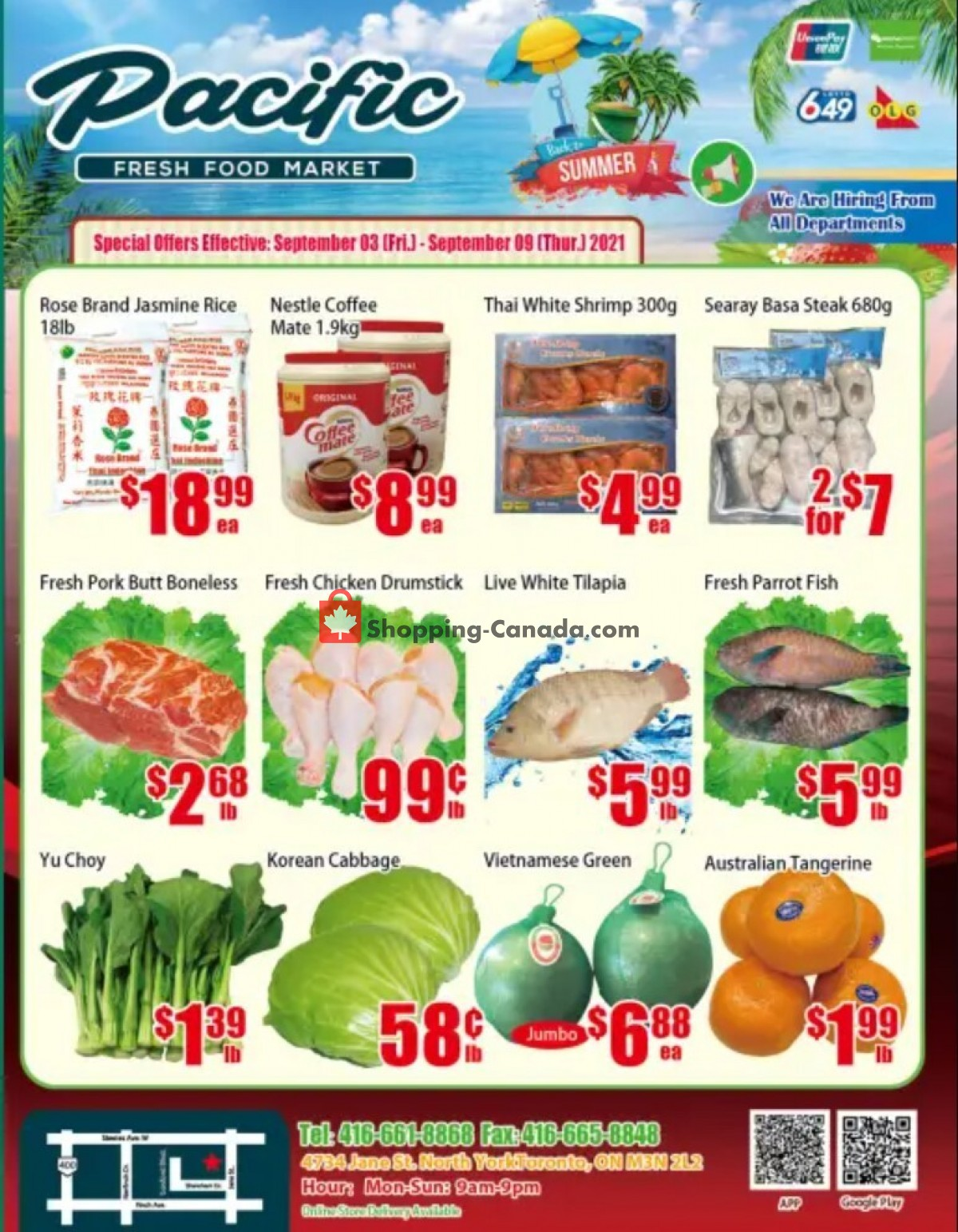 Flyer Pacific Fresh Food Market Canada - from Friday September 3, 2021 to Thursday September 9, 2021