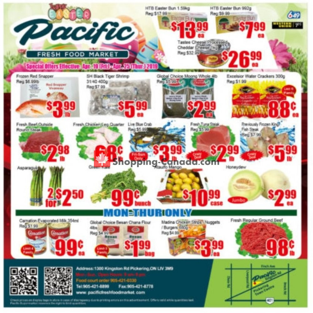 Flyer Pacific Fresh Food Market Canada - from Friday April 19, 2019 to Thursday April 25, 2019