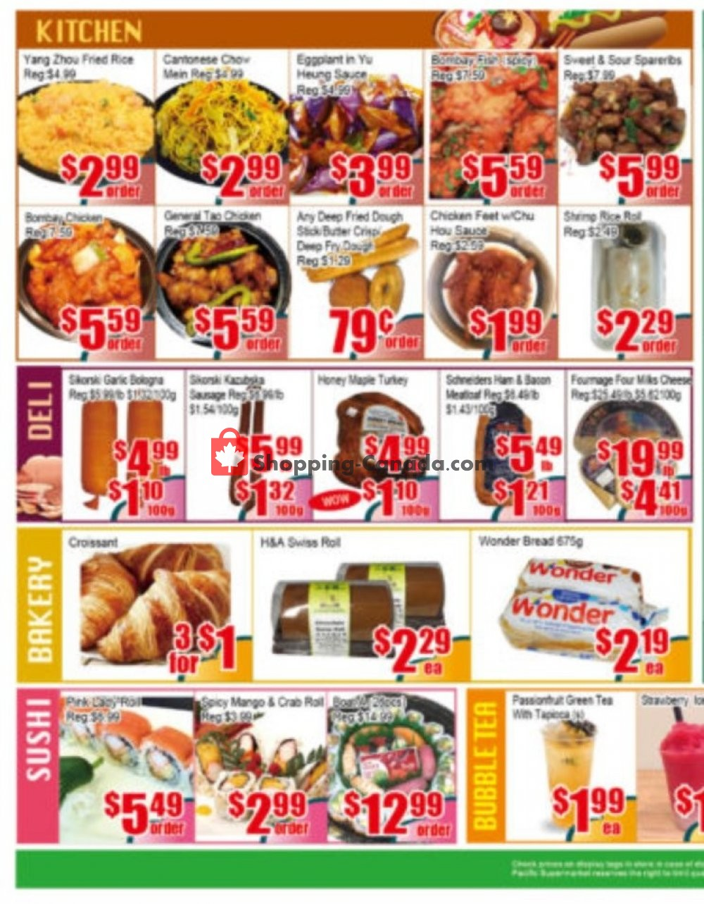 Flyer Pacific Fresh Food Market Canada - from Friday July 12, 2019 to Thursday July 18, 2019