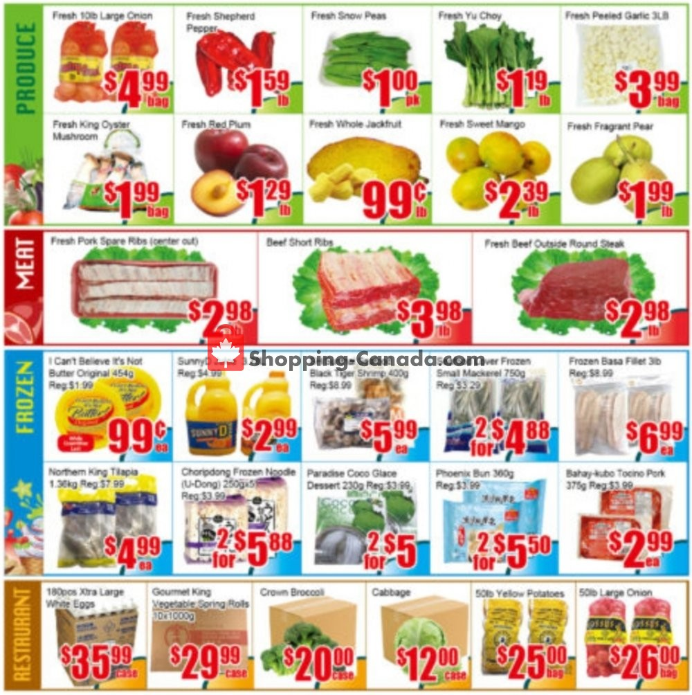 Flyer Pacific Fresh Food Market Canada - from Friday September 6, 2019 to Thursday September 12, 2019