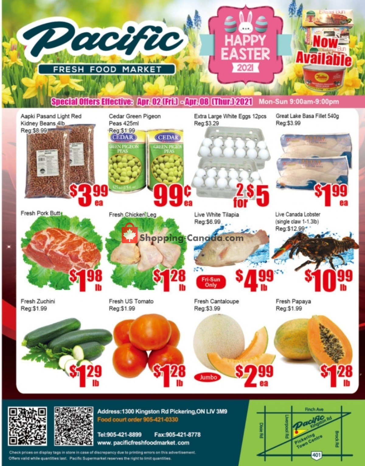 Flyer Pacific Fresh Food Market Canada - from Friday April 2, 2021 to Thursday April 8, 2021
