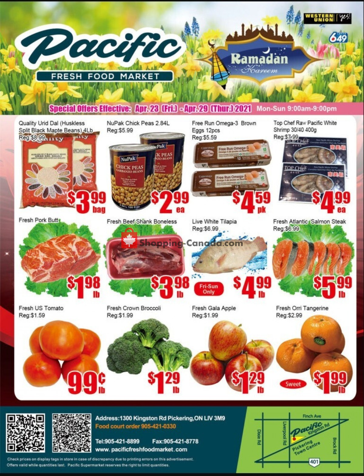 Flyer Pacific Fresh Food Market Canada - from Friday April 23, 2021 to Thursday April 29, 2021