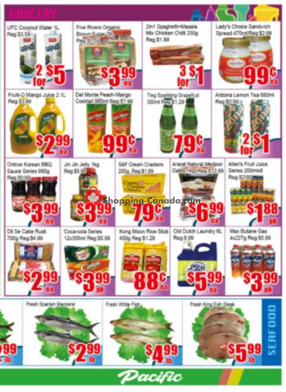 Flyer Pacific Fresh Food Market Canada - from Friday August 9, 2019 to Thursday August 15, 2019