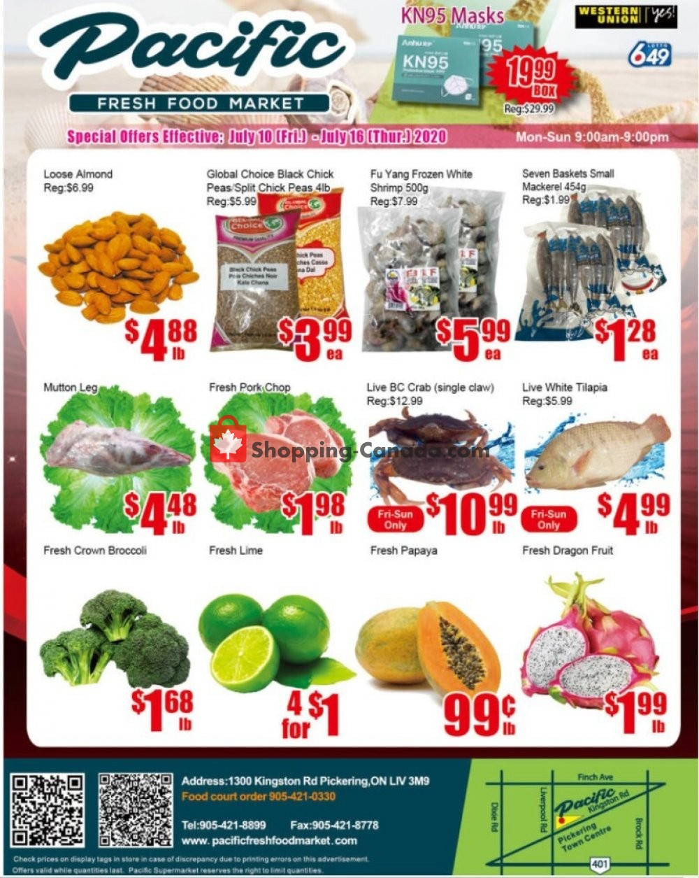 Flyer Pacific Fresh Food Market Canada - from Friday July 10, 2020 to Thursday July 16, 2020