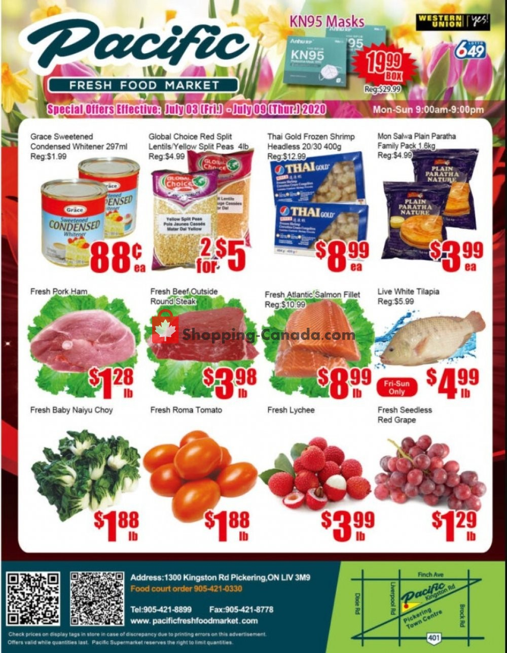 Flyer Pacific Fresh Food Market Canada - from Friday July 3, 2020 to Thursday July 9, 2020