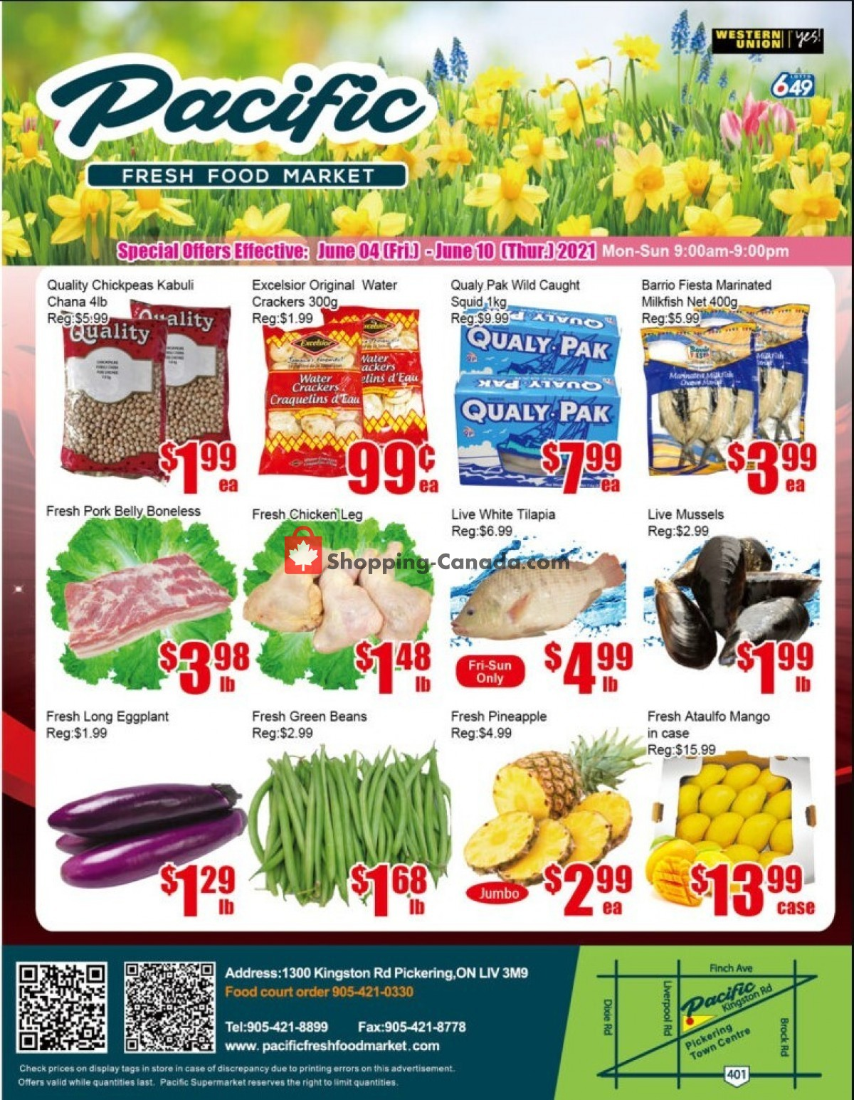 Flyer Pacific Fresh Food Market Canada - from Friday June 4, 2021 to Thursday June 10, 2021