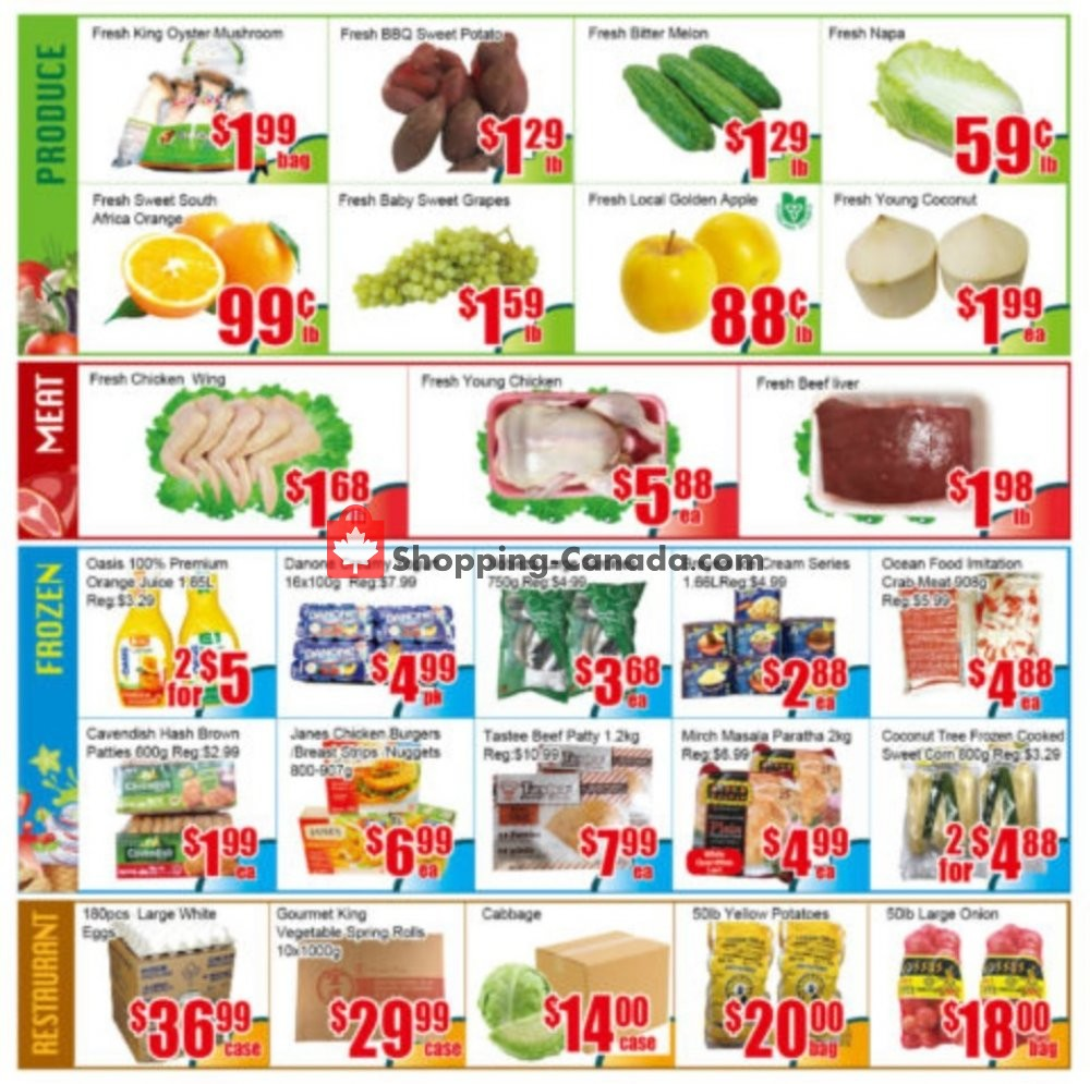 Flyer Pacific Fresh Food Market Canada - from Friday October 4, 2019 to Thursday October 10, 2019