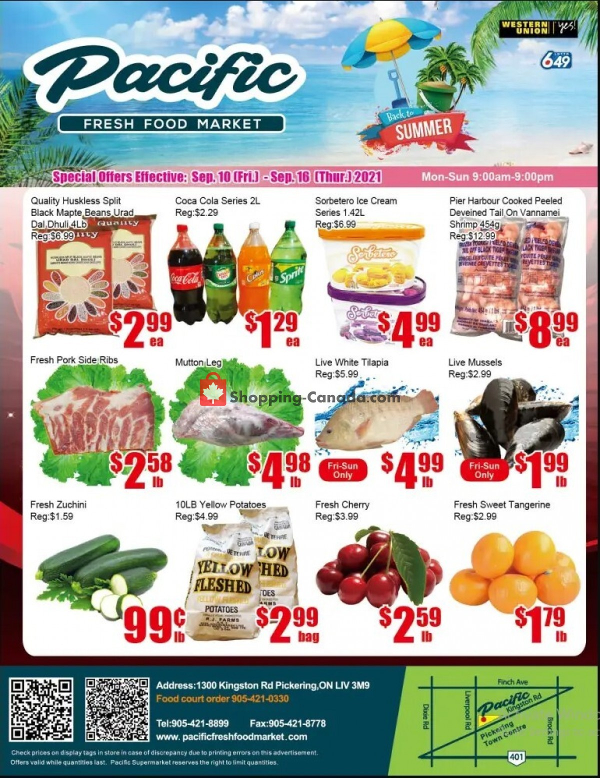 Flyer Pacific Fresh Food Market Canada - from Friday September 10, 2021 to Thursday September 16, 2021